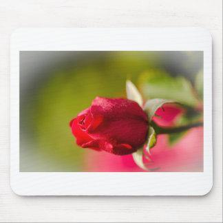 赤いバラの終わりの上りのデザイン マウスパッド