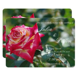 赤いバラの結婚式 カード