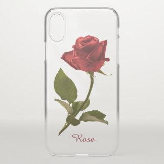 赤いバラの花の写真-澄んなBG --を選抜して下さい iPhone X ケース