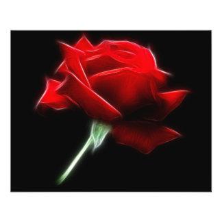赤いバラの花の植物 チラシ