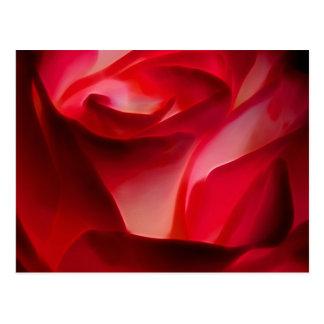 赤いバラの花びら ポストカード