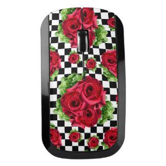 赤いバラの花束花愛ロカビリー ワイヤレスマウス