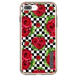 赤いバラの花束花愛ロカビリー INCIPIO DualPro SHINE iPhone 8 PLUS/7 PLUSケース