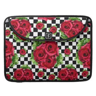 赤いバラの花束花愛ロカビリー MacBook PROスリーブ