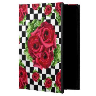 赤いバラの花束花愛ロカビリー POWIS iPad AIR 2 ケース