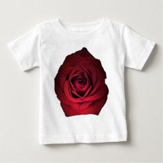 赤いバラの花 ベビーTシャツ