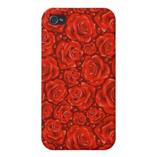 赤いバラのiPhone 4の無光沢の終わりの場合 iPhone 4/4Sケース