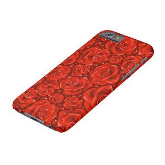 赤いバラのiPhone 6/6s、やっとそこに場合 Barely There iPhone 6 ケース
