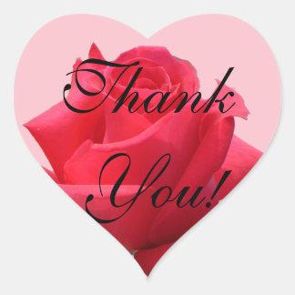 赤いバラはステッカー感謝していしています ハートシール