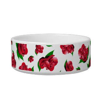 赤いバラパターン ボウル