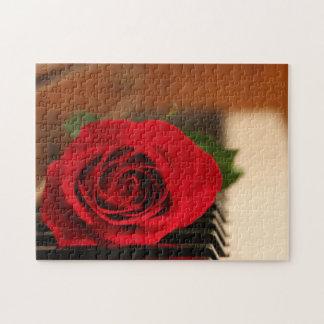 赤いバラ ジグソーパズル