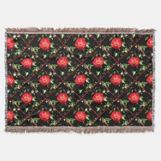 赤いバラ スローブランケット