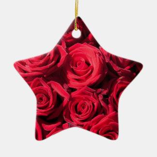 赤いバラ セラミックオーナメント