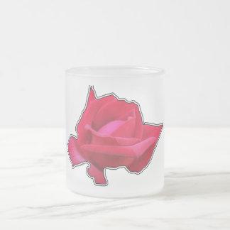 赤いバラ フロストグラスマグカップ