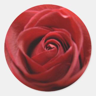 赤いバラ ラウンドシール
