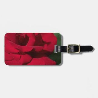 赤いバラ ラゲッジタグ