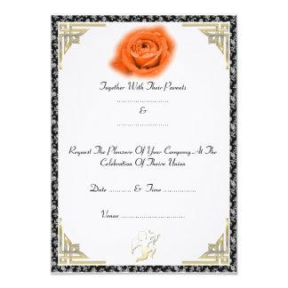 赤いバラ-招待状 カード