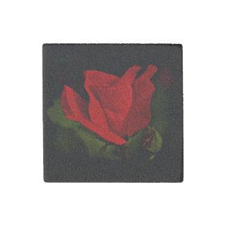 赤いバラ-暗い情熱 ストーンマグネット
