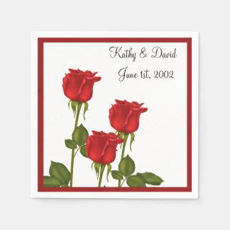 赤いバラ(結婚式) スタンダードカクテルナプキン