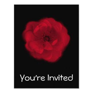 赤いバラ。 黒い背景 カード