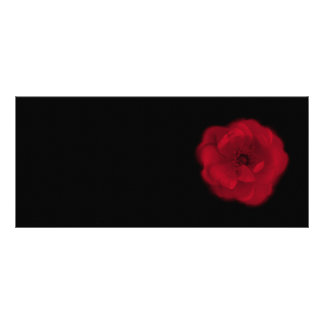 赤いバラ。 黒い背景 ラックカード