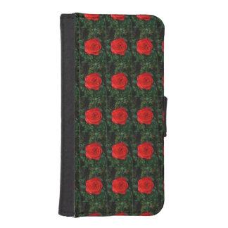 赤いバラ iPhoneSE/5/5sウォレットケース
