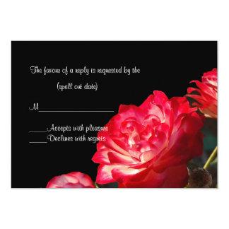赤いバラIのrsvp カード