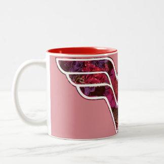 赤いバラWW ツートーンマグカップ