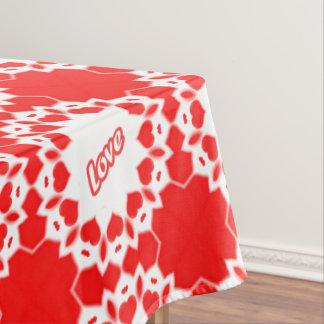 """赤いバレンタインのハートによって組み立てられる""""愛""""を言い表わして下さい テーブルクロス"""