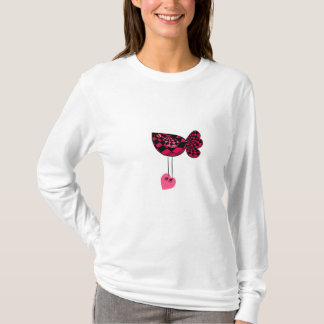 赤いバレンタインの愛鳥3のTシャツ Tシャツ