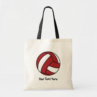 赤いバレーボール(カスタマイズ可能な) トートバッグ