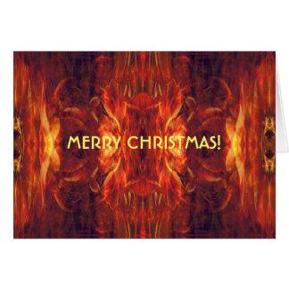 赤いバロックのカッコいいの抽象芸術 カード