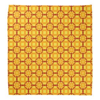 赤いバンダナ幾何学的な318及び金ゴールド バンダナ