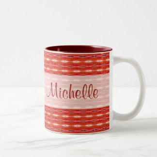 赤いパターン ツートーンマグカップ