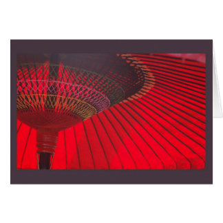 赤いパラソル カード