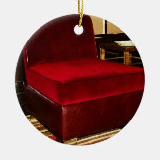 赤いビロードの椅子 セラミックオーナメント