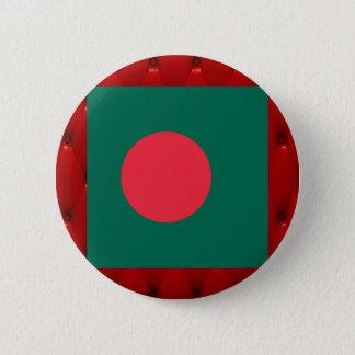 赤いビロードの背景のバングラデシュのファンシーな旗 5.7CM 丸型バッジ