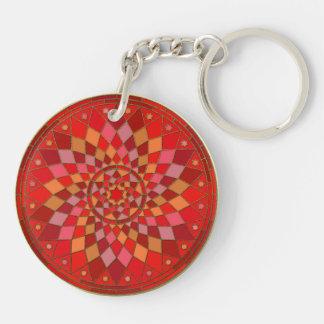 赤いピニャータの曼荼羅 キーホルダー