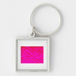 赤いピンクの玉石 キーホルダー