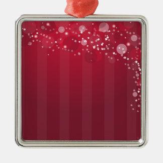 赤いピンクのAbstactの円ラインデザイン メタルオーナメント
