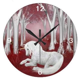 赤いファンタジー ラージ壁時計