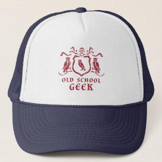 赤いフクロウのギークのトラック運転手の帽子 キャップ