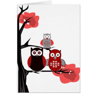 赤いフクロウ カード