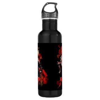 赤いフラクタルのロマンチックなタンゴのダンサー ウォーターボトル