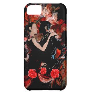 赤いフラクタルのロマンチックなタンゴのダンサー iPhone5Cケース