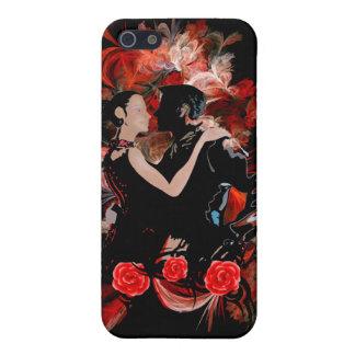 赤いフラクタルのロマンチックなタンゴのダンサー iPhone SE/5/5sケース