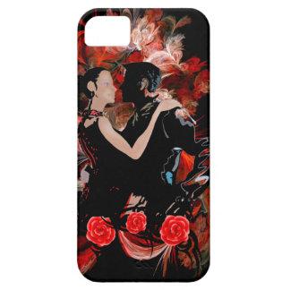 赤いフラクタルのロマンチックなタンゴのダンサー iPhone SE/5/5s ケース