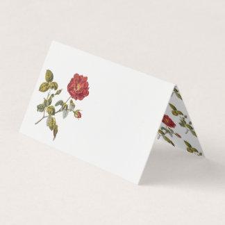 赤いフランス人のばら色の誕生会のテーブル プレイスカード