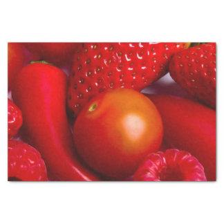 赤いフルーツのティッシュペーパー 薄葉紙