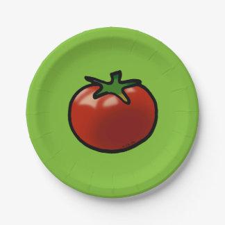 赤いフルーツのトマト ペーパープレート